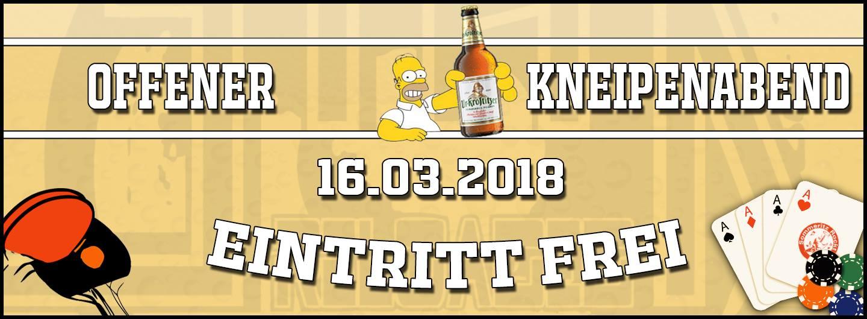 16.03.2018 - Offener Kneipenabend - STAK reloaded