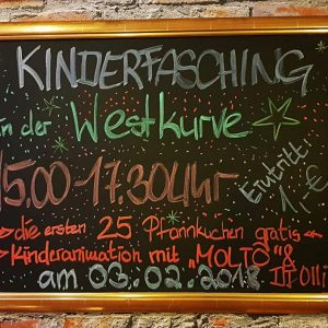03.02.2018 - Kinderfasching in der Westkurve in Schmölln