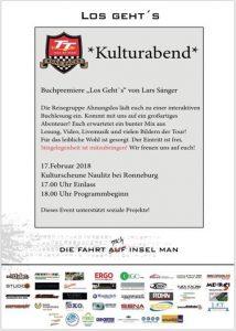 17.20.2018 - Kulturabend - Buchpremiere Lars Sänger - Reisegruppe Ahnungslos - Kulturscheune Naulitz