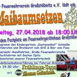 27.04.18 - Maibaumsetzen - Feuerwehrverein Großstöbnitz e.V. - Schmölln