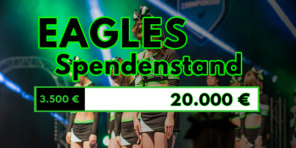 02.02.2018 - Aktueller Eagles Cheerleader Spendenstand für Orlando