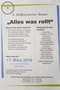 17.03.2018 - 1. Altkirchener Basar - LSV 1889 Altkirchen e.V. - Grundschule Altkirchen