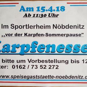 15.04.2018 - Karpfenessen - Speisegaststätte Nöbdenitz - Schmölln