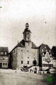 um 1880 - Rathaus Schmölln - Knopfstadt.de