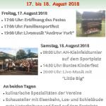 17. und 18. August 2018 - Dorf- und Vereinsfest Dobitschen