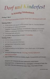 18. - 19. August 2018 - Freiwillige Feuerwehr Schloßig / Nödenitzsch - Dorf- und Kinderfest