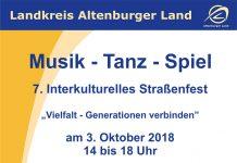 03. Oktober 2018 - 7. Interkulturelles Straßenfest in Schmölln