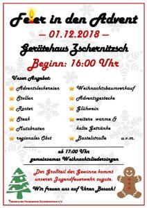 01. Dezember 2018 - Feier in den Advent - Freiwillige Feuerwehr Zschernitzsch