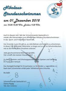 01. Dezember 2018 - Nikolaus-Stundenschwimmen - Schwimmverein Seeteufel e. V.