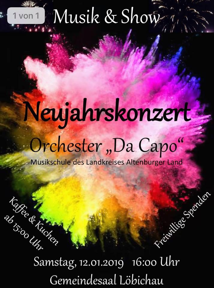 "12. Januar 2019 - Neujahrskonzert Löbichau 2019 - Orchester ""Da Capo"""