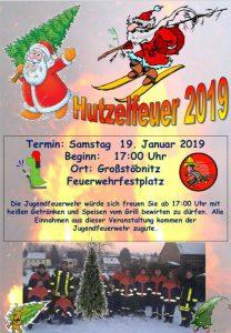 19. Januar 2019 - Feuerwehr Großstoebnitz - Hutzelfeuer