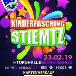 23. Februar 2019 - Kinderfasching Stiemtz - SV Großstöbnitz 90 e. V.