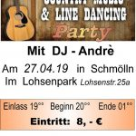 27. April 2019 - Country Music & Line Dance Party - Lohsenpark Schmölln