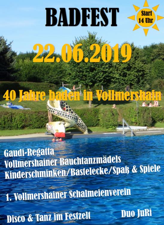 22. Juni 2019 - 40. Jahre - Freibad Vollmershain