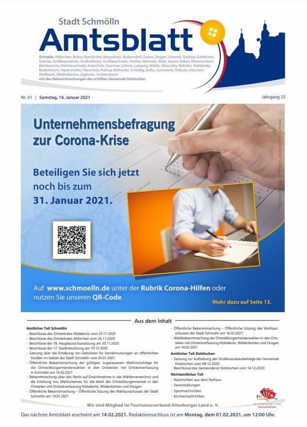 Amtsblatt Schmölln Januar 2021