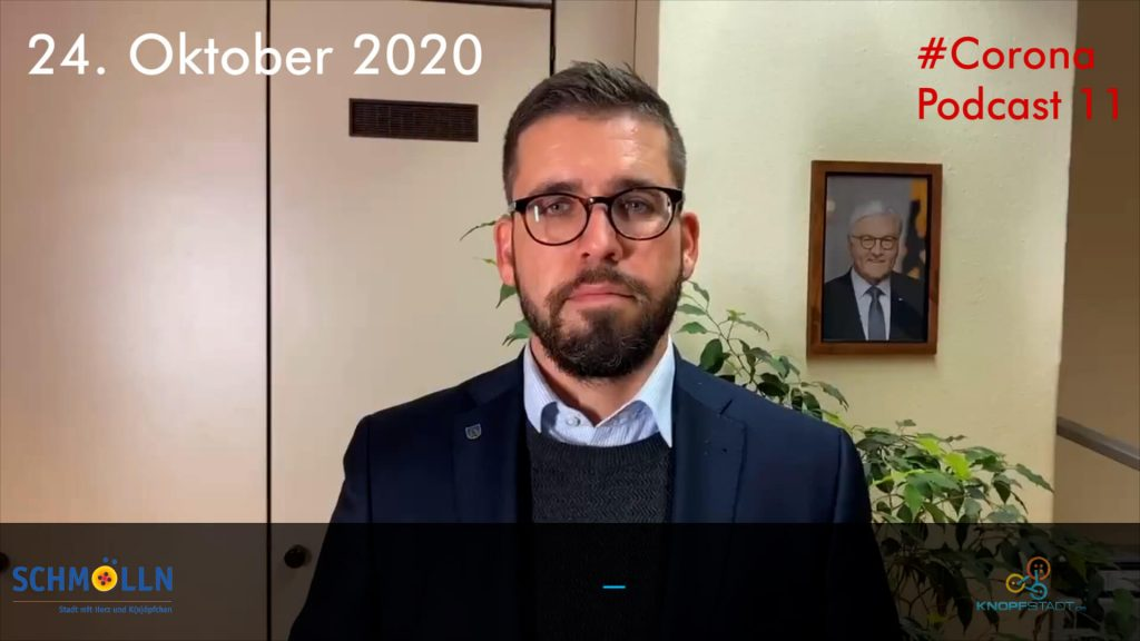 2020-10-24 Corona Podcast Schmölln Bürgermeister Sven Schrade