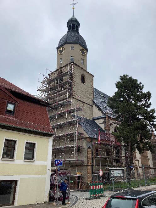 10. Mai 2021 - Stadtkirche Baustelle