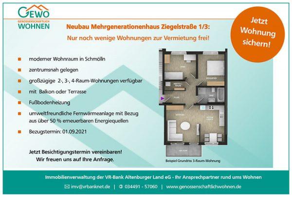 GEWO - Mehrgenerationenhaus Ziegelstraße 1/3